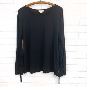 Style & Co • Black Ruched Top